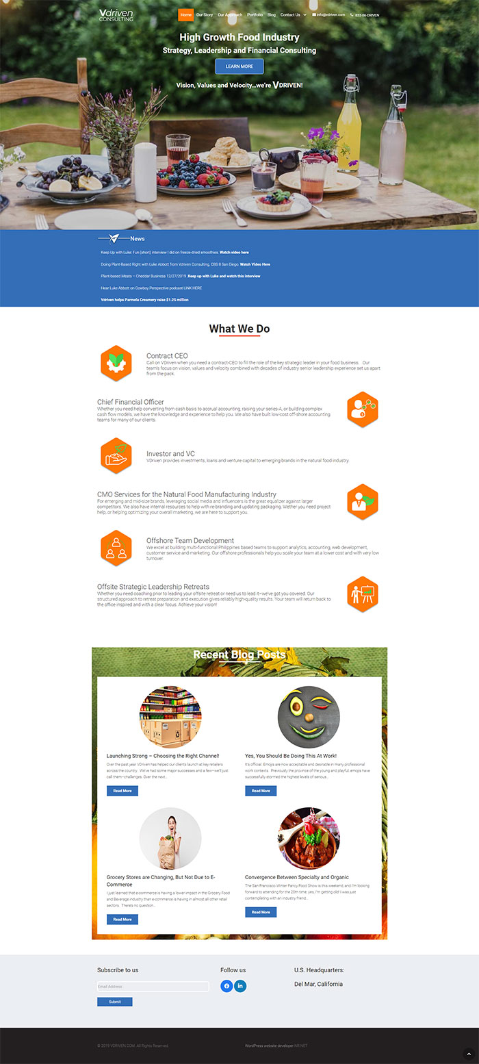 Web design WordPress by a freelance developer from Philippines